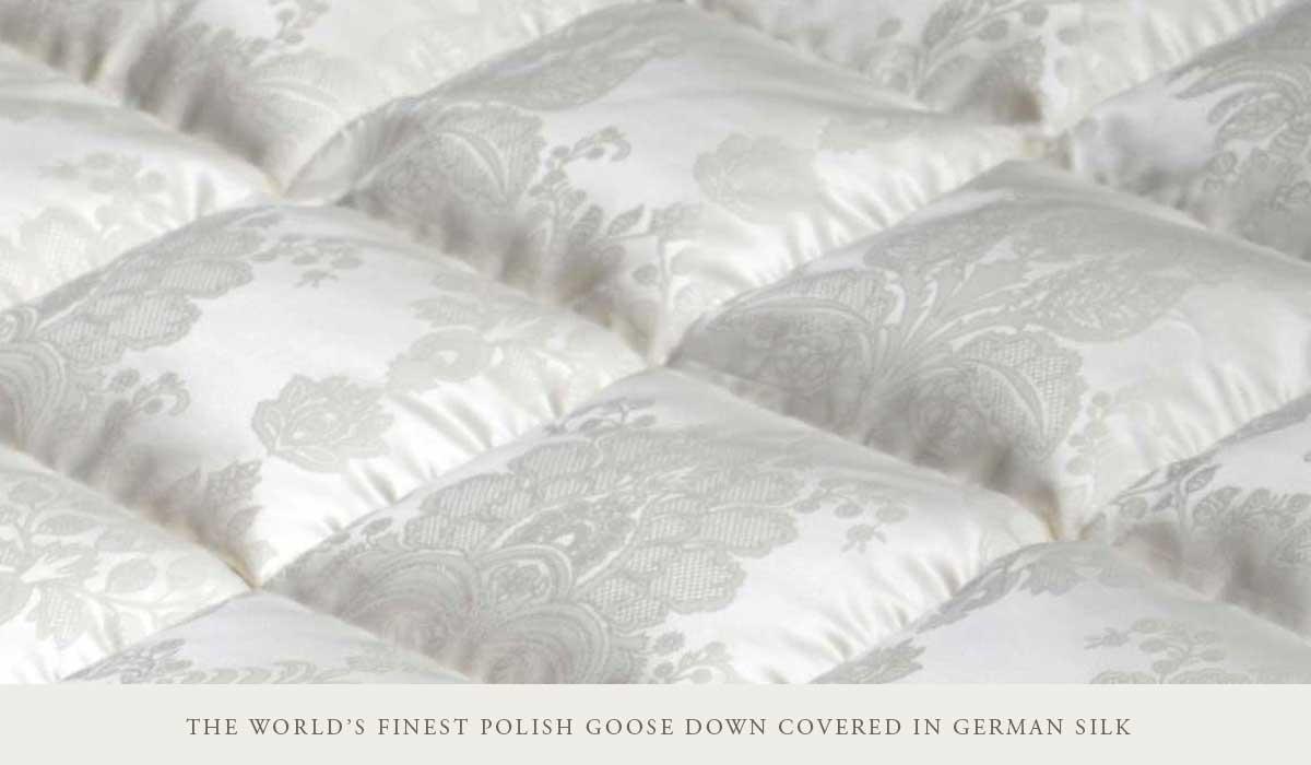 Silk Covered Polish Goose Down Comforters & Pillows | ANICHINI Luxury Down